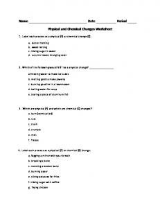 Physical and Chemical Properties/Changes Worksheet - MAFIADOC.COM