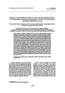 physical and chemical stability analysis of