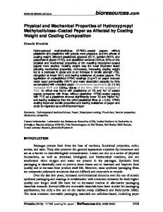 Physical and Mechanical Properties of Hydroxypropyl Methylcellulose ...