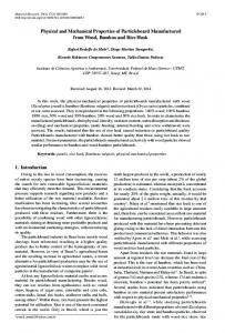 Physical and Mechanical Properties of Particleboard ... - Scielo.br