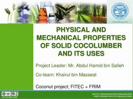 physical and mechanical properties of solid ...