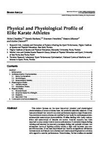 Physical and Physiological Profile of Elite Karate Athletes