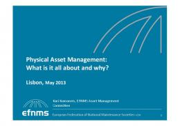 Physical asset management 07052013 Lisbon to participants