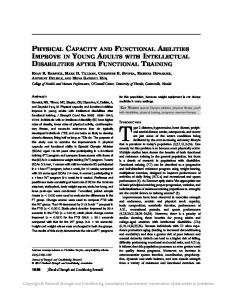physical capacity and functional abilities improve in young adults with ...
