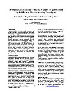 Physical Characteristics of Titania Nanofibers Synthesized by Sol-Gel ...