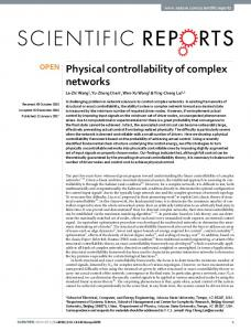 Physical controllability of complex networks
