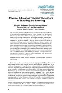 Physical Education Teachers' Metaphors of Teaching and Learning