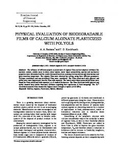 physical evaluation of biodegradable films of calcium ... - SciELO