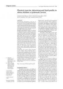 Physical exercise, detraining and lipid profile in ... - Semantic Scholar