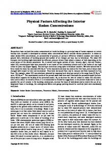 Physical Factors Affecting the Interior Radon-Concentrations