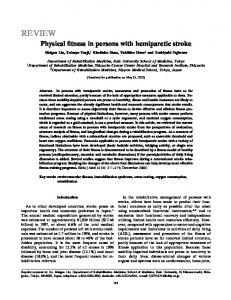Physical fitness in persons with hemiparetic stroke - The Keio Journal ...