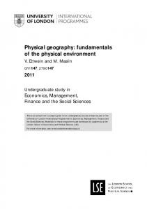 Physical geography: fundamentals of the physical environment