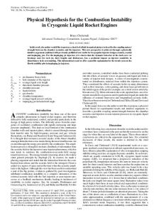 Physical Hypothesis for the Combustion Instability in Cryogenic ...