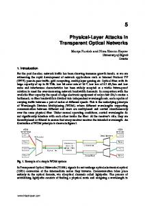 Physical-Layer Attacks in Transparent Optical Networks