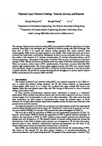 Physical-Layer Network Coding - arXiv
