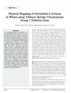 Physical Mapping of Puroindoline b-2 Genes in ... - PubAg - USDA