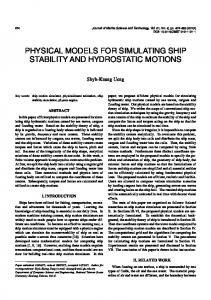 physical models for simulating ship stability and hydrostatic motions