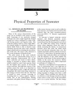 Physical Properties of Seawater - Physical Oceanography Research ...