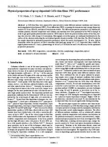 Physical properties of spray deposited CdTe thin films - Journal of ...