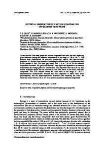 physical properties of vacuum evaporated tin sulfide thin films