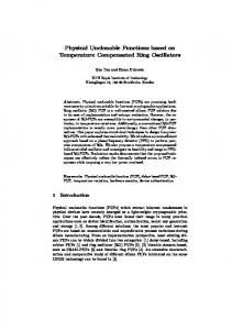 Physical Unclonable Functions based on Temperature Compensated ...