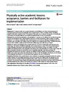Physically active academic lessons: acceptance