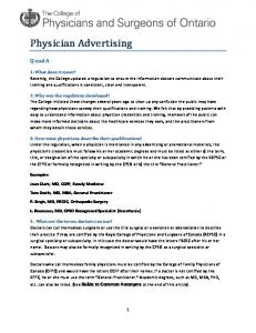 Physician-Advertising-FAQs - College of Physicians and Surgeons ...
