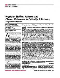 Physician staffing patterns and clinical outcomes in critically ill ... - VUmc