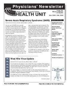 Physicians Physicians' Newsletter Newsletter - Leeds, Grenville and ...