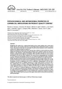 PHYSICOCHEMICAL AND ANTIMICROBIAL PROPERTIES OF ...