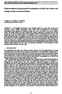 Physicochemical and geophysical investigation of soils