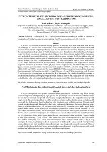 PHYSICOCHEMICAL AND MICROBIOLOGICAL ... - Journal IPB