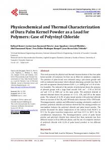 Physicochemical and Thermal Characterization of ...