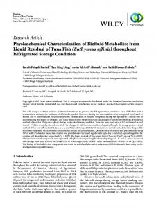 Physicochemical Characterization of Biofluid Metabolites from Liquid ...