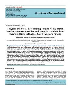 Physicochemical, microbiological and heavy ... - Academic Journals