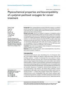 Physicochemical properties and biocompatibility of