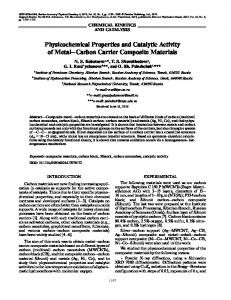 Physicochemical Properties and Catalytic Activity of ... - Springer Link
