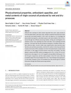 Physicochemical properties, antioxidant ... - Wiley Online Library