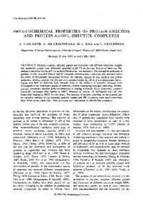 PHYSICOCHEMICAL PROPERTIES OF PROTEIN ... - CiteSeerX