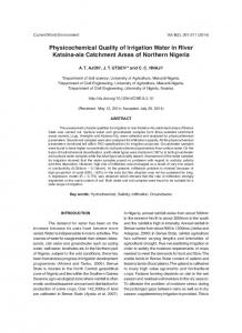 Physicochemical Quality of Irrigation Water in River Katsina-ala ...