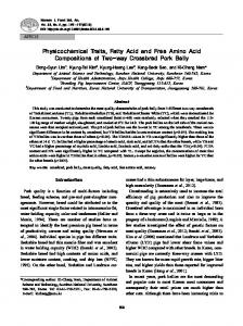 Physicochemical Traits, Fatty Acid and Free Amino Acid ... - CiteSeerX