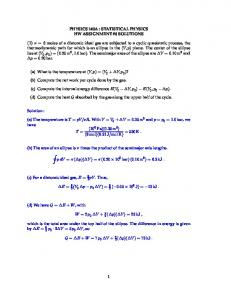 class th physics assignment com physics 140a statistical physics hw assignment 6
