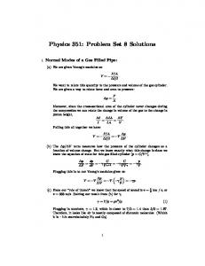 Physics 351: Problem Set 8 Solutions