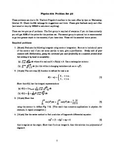 Physics 834: Problem Set #3