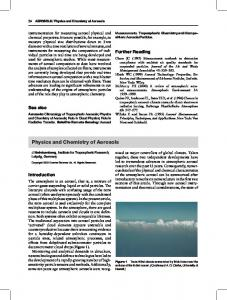 Physics and Chemistry of Aerosols