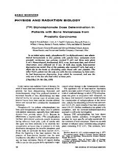 PHYSICS AND RADIATION BIOLOGY [32P] Diphosphonate Dose ...