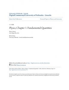 Physics, Chapter 1: Fundamental Quantities