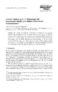Physics Current Algebras ind+ 1-Dimensions and ... - Project Euclid