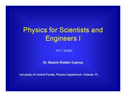 Physics for Scientists and Engineers I