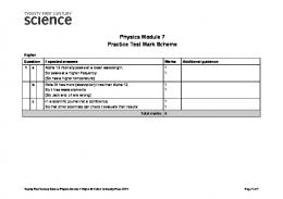 Physics Module 7 Practice Test Mark Scheme